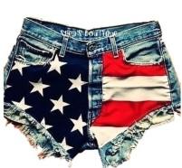 Sheas Boutique American Flag Shorts